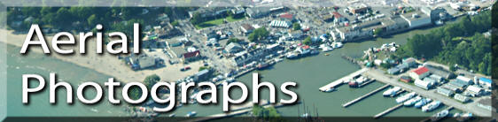 Photo link to aerial photographs of Long Point Ontario and area, Norfolk County on Lake Erie Ontario